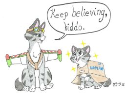 Keep Believing, Kiddo! (Colored) by FaithTetsuki