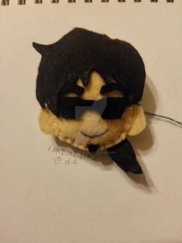 [FA] BTD Rire plush head pin by inkblot-wolf