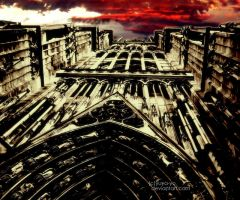 red sky over the Notre-Dame by yuya-yo