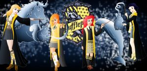 Disney Hogwarts students: Hufflepuff by Willemijn1991