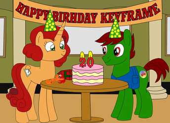 KeyFrames's Birthday 2017 by equestriaguy637