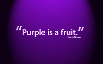 Purple is a Fruit by mushir