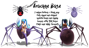 .:MMD DL:. TDA Arachne Base by LilMissLillie