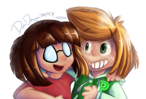 Peanuts - Marcie and Peppermint Patty by DelTa-DRagon7997