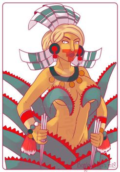 Mayahuel - Aztec Mythology by Kalumis