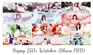 Happy 150+ Watcher (Share PSD) by bobanhbeo