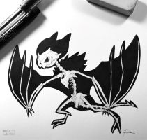 Skeletal Noivern by WolfJayden