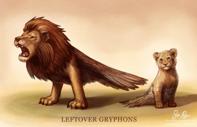 Leftover Gryphons by Risachantag
