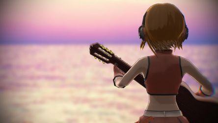 [MMD] Meiko Playing an Acoustic Guitar by bluecandyboy