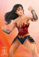 Wonder Woman Undeterred by SEL-artworks