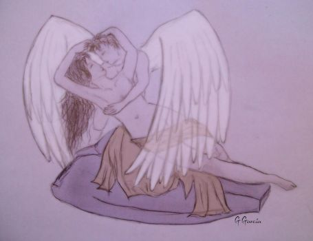 Eros and Psyche by beehgarcia