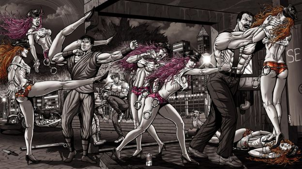 Commission Final Fight 01 Complete by leandro-sf