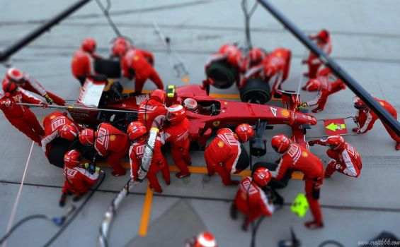 F1 Ferrari (tilt shift) by craft666