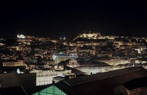 Night over Lisbon City #2 by Roger-Wilco-66