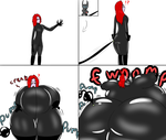 COM- Black and red and blowing up all over by ThotBubble