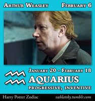Arthur Weasley - Aquarius by GeorgeWiseman