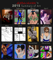 2015 Summary of Art by AlphaWolfAl