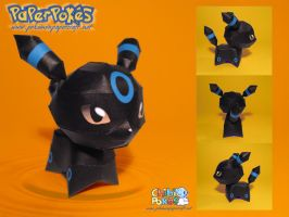 Chibi Umbreon Papercraft by Lyrin-83