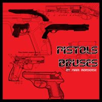 pistols brushes by nosense-stock
