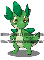 Little Leaf Dragon - Fakemon by Hime--Nyan