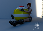Stretching, Lara Croft by RinoTheBouncer