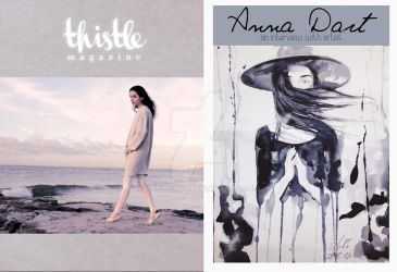 Thistle Magazine with illustration of Anna Dart by AnnaDart