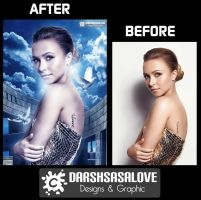 Hayden Panettiere Before and After by DARSHSASALOVE