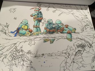 WIP Ninja Turtles in Northampton (Ross Campbell) by TRANFDQ