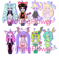 monster batch [closed] by hello-planet-chan
