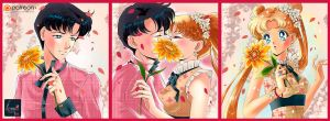 Romantic love Mamoru and Usagi by Pillara