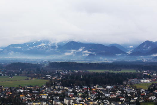 View of Salzburg on a fine winters day by trialbymagic