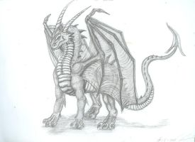 standing dragon by Ruth-Tay