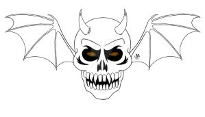 Demon Skull Logo Digital Ink by JesseAllshouse