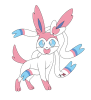 Sylveon - New 6th Generation Evolution of Eevee :D by AR-ameth