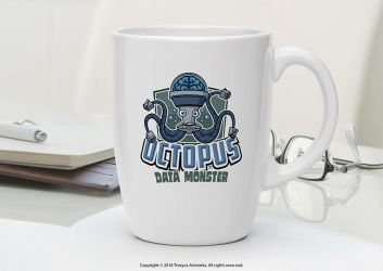 Octopus Data Monster Mug by TrexycaArtworks