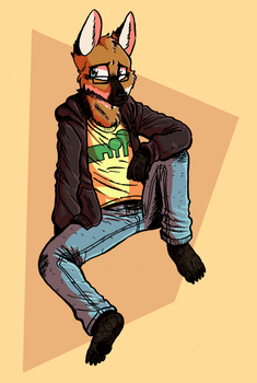 Connor the Maned Wolf [by rabbitmaskedman] by T-E-R-R-A-B-Y-T-E