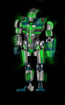 Robot Black Background by Samuel81