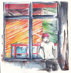 Smoking by the Window by Naymless