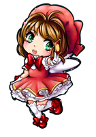 Sakura chibi by Frills-Of-Justice