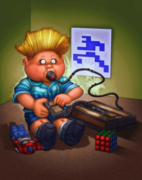 Garbage Pail Kids: Matt Electronix by tygerbug