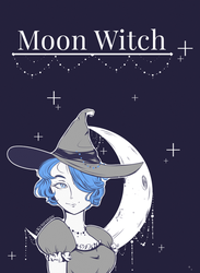 Moon Witch-illustration by KingNeonHappy