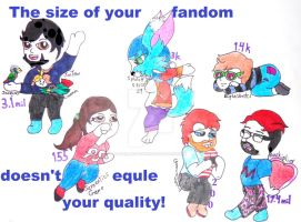 Fandom Size Doesn't Matter (Inspirational Piece) by SpellboundFox