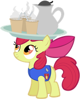Applebloom on coffeeduty by Assiel