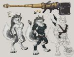 Cray Werewolf Reference Sheet by The-SixthLeafClover