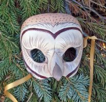 Barn Owl Leather Mask by merimask