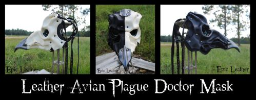 Leather Avian Plague Doctor Mask - Profile by Epic-Leather
