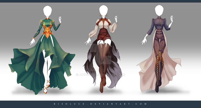 (CLOSED) Adoptable Outfit Auction 174 - 176 by JawitReen