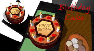 [MMD] Birthday Torta DL by OniMau619