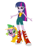 Twilight and Spide Dressed as Misty and Psyduck by TheWalrusclown