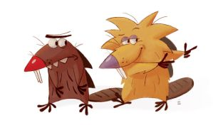 Angry Beavers by CrayonBot